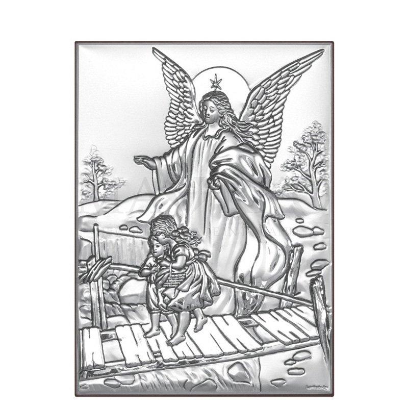obrazek na chrzest z Aniołem Stróżem